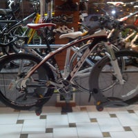 Photo taken at Bicimania Bike Shop by Gustavo T. on 11/6/2012