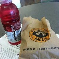 Photo taken at Einstein Bros Bagels by Alejandra R. on 11/6/2012