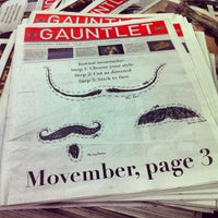 Photo taken at The Gauntlet Publications Society by Katy A. on 11/2/2012
