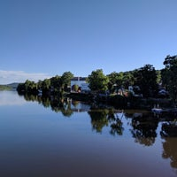 Photo taken at New Hope-Lambertville Toll Supported Bridge by Russell S. on 8/8/2017