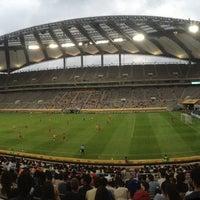 Photo taken at Seoul Worldcup Stadium by Jibong K. on 7/20/2013