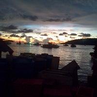 Photo taken at Tanjung Aru Beach by Amxa S. on 4/27/2013