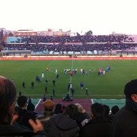 "Photo taken at Stadio Cibali ""Angelo Massimino"" by Lisa G. on 1/27/2013"