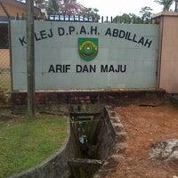 Photo taken at Kolej DPAH Abdillah by Wan Azirul Azreen W. on 5/5/2013