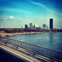 Photo taken at Handelskai/Donau by Ivan P. on 3/6/2014