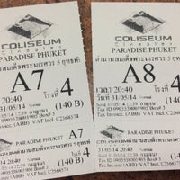 Photo taken at Coliseum Paradise Cineplex Phuket by Reena J. on 5/31/2014