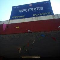 Photo taken at Balharshah Railway Station by Smriti T. on 2/19/2013