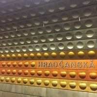 Photo taken at Metro =A= Hradčanská by Malin S. on 7/23/2017