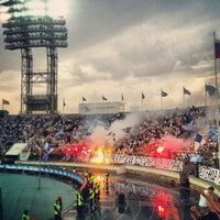 Photo taken at Стадион «Петровский» by Ann S. on 5/19/2013