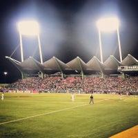 Photo taken at Estadio Hiram Bithorn by Lillian E. on 3/9/2013
