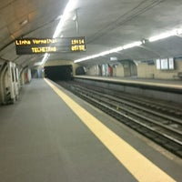 Photo taken at Metro Anjos [VD] by Vinícius L. on 5/1/2017