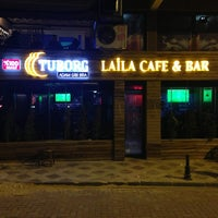 Photo taken at Laila cafe&bar by A Serden A. on 4/4/2013