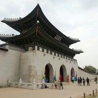 Photo taken at Gwanghwamun by Steven K. on 4/28/2013