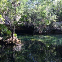 Photo taken at Cenote Chikin Ha by Adrian O. on 6/12/2017
