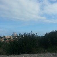 Photo taken at Playa de Mascarat Sur / La Barreta by Klaudya R. on 2/16/2013