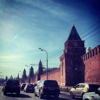 Photo taken at Bolshoy Kamenny Bridge by Иван К. on 4/12/2013