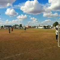 Photo taken at Cancha futbol ITSON by gIzmHo on 11/15/2014