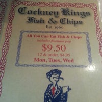 Photo taken at Cockney Kings Fish & Chips Ltd by Jamella S. on 11/28/2012