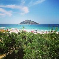 Photo taken at Praia de Grumari by Cristiane L. on 2/23/2013