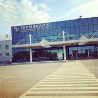 Photo taken at Tolmachevo International Airport (OVB) by Mariya A. on 6/7/2013