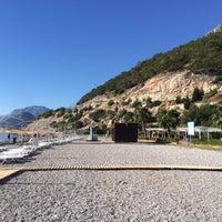 Photo taken at Sarısu Kadınlar Plajı by Elif Ö. on 10/18/2017