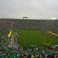 Photo taken at Notre Dame Stadium by Matt J. on 10/13/2012