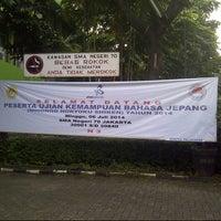 Photo taken at SMAN 70 Jakarta by Yulia J. on 7/6/2014