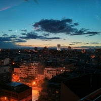Photo taken at Hotel Silken Puerta América by Anne A. on 5/11/2013