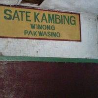 Photo taken at Sate Kambing Winong Pak Wasino by Ernaa K. on 1/1/2013