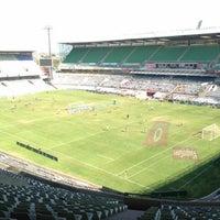 Photo taken at Free State Stadium (Vodacom Park) by Doron F. on 5/19/2013