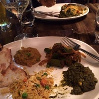 Photo taken at Bindia Indian Bistro by Leah E. on 11/19/2013