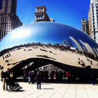 Photo taken at Cloud Gate by Anish Kapoor by Carlomagno I on 3/29/2013