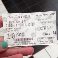 Photo taken at AMC Loews Brick Plaza 10 by Brianne G. on 5/3/2013