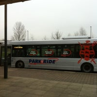 Photo taken at Monks Cross Park & Ride by Chris K. on 2/18/2013