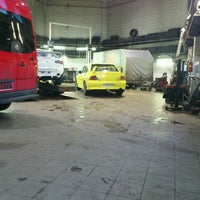 Photo taken at Auto Stils, autoserviss by Kristaps P. on 3/1/2013