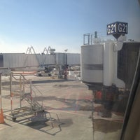 Photo taken at Gate G21 by Roy G. on 4/20/2013