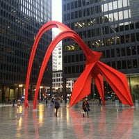 Photo taken at Alexander Calder's Flamingo Sculpture by Meredith E. on 4/11/2013