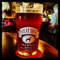 Photo taken at Great Dane Pub & Brewing Company by Eric F. on 6/28/2013