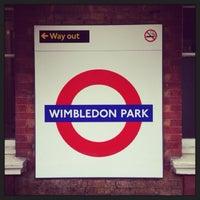 Photo taken at Wimbledon Park London Underground Station by Demsi on 10/9/2013