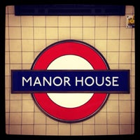 Photo taken at Manor House London Underground Station by Demsi on 9/23/2013