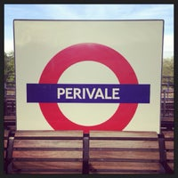 Photo taken at Perivale London Underground Station by Demsi on 9/27/2013