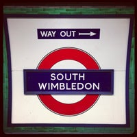 Photo taken at South Wimbledon London Underground Station by Demsi on 9/17/2013