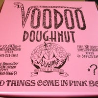 Photo taken at Voodoo Doughnut by Audgemb on 11/25/2012