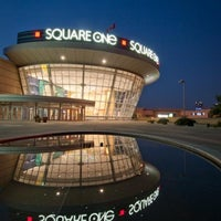 Photo taken at Square One Shopping Centre by Jalaine N. on 3/20/2013