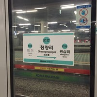 Photo taken at Cheongnyangni Stn. by Young Jun K.🎗 on 10/15/2015