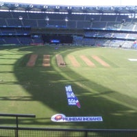 Photo taken at Wankhede Stadium by Bhumi P. on 4/29/2013