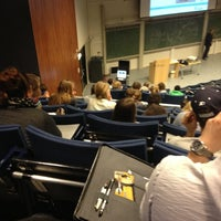 Photo taken at Aula Congress Centre by Stijn d. on 11/21/2012