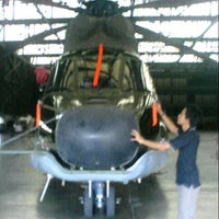 Photo taken at MK2 Helicopter Hangar (Ae) PT. DI by Dody W. on 2/6/2013