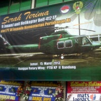 Photo taken at MK2 Helicopter Hangar (Ae) PT. DI by Dody W. on 3/15/2013