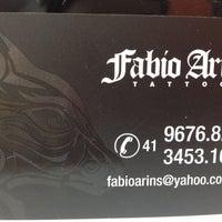 Photo taken at Fabio Arins Tattoo by Roberta do Amaral de Melo B. on 5/25/2013